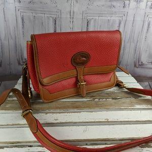 dooney & Bourke leather red crossbody shoulder tot
